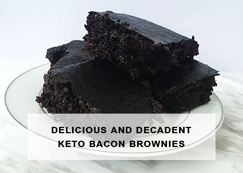 Delicious and Decadent Keto Bacon Brownies | Ketoship