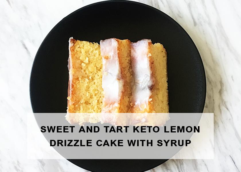 Sweet and Tart Keto Lemon Drizzle Cake with Sugar-Free Icing | Ketoship