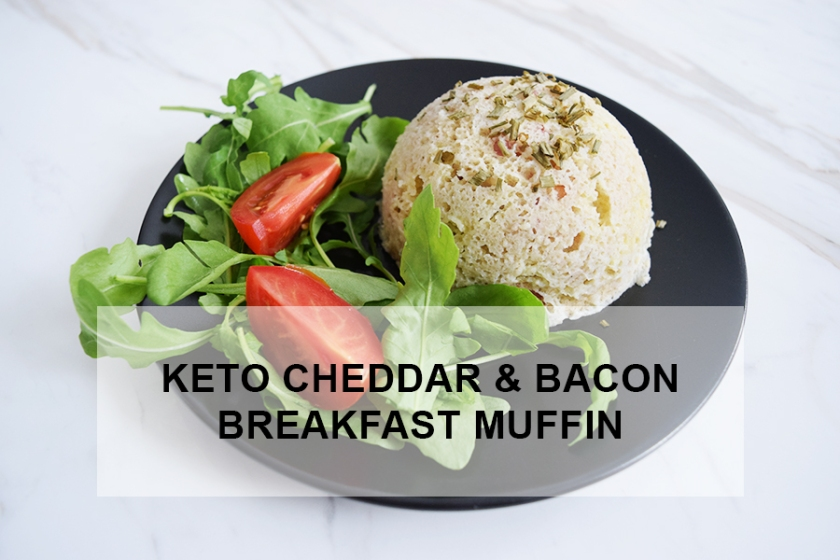Delicious Keto Cheddar and Bacon Breakfast Muffin | Ketoship
