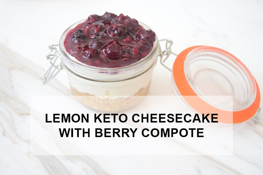 Lemon Keto Cheesecake with Tangy Berry Compote | Ketoship