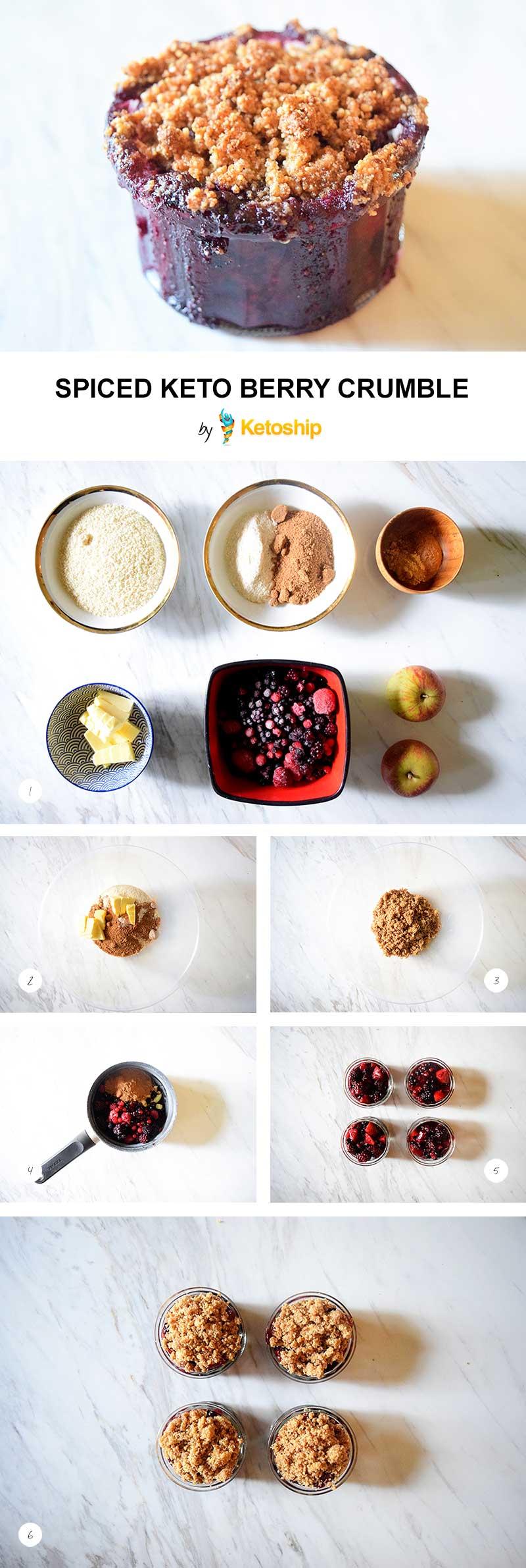 Spiced Keto Berry Crumble Recipe   Ketoship