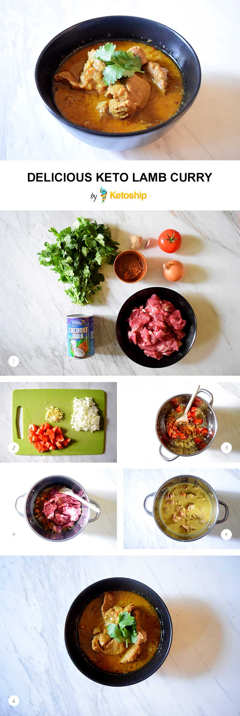 Delicious Keto Lamb Curry Recipe | Ketoship