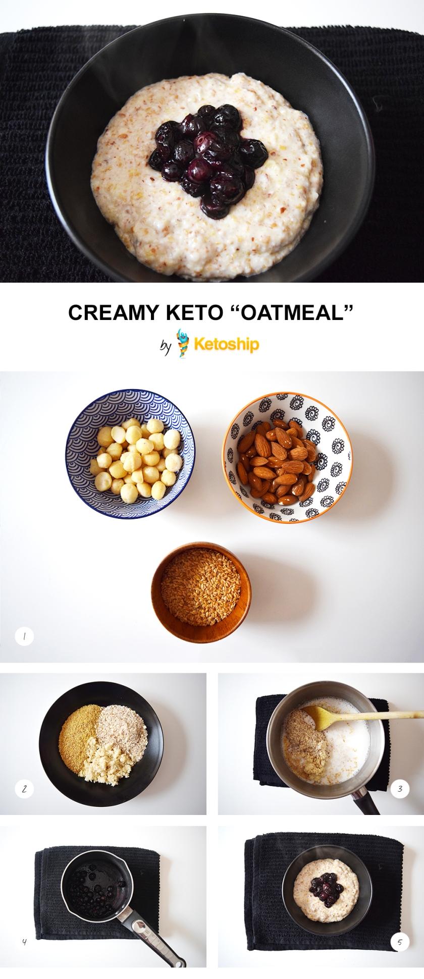 Creamy Keto Oatmeal recipe | Ketoship