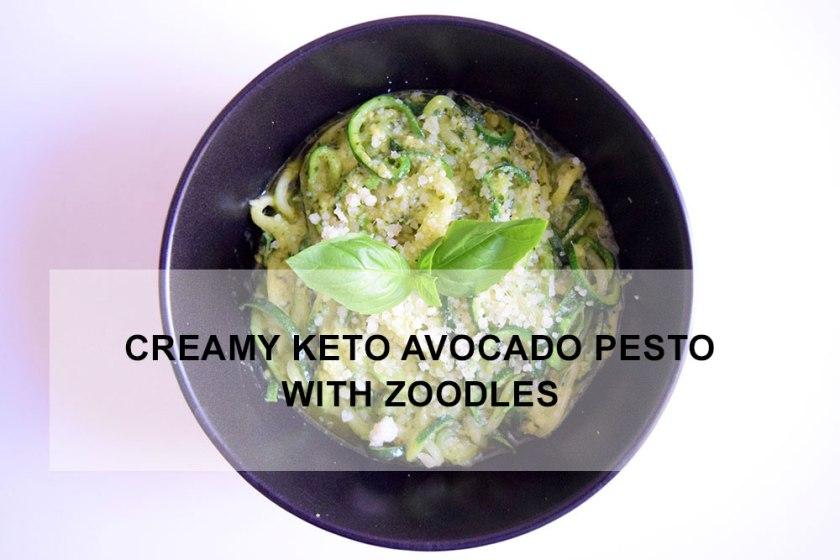 Creamy Keto Avocado Pesto with Zoodles | Ketoship