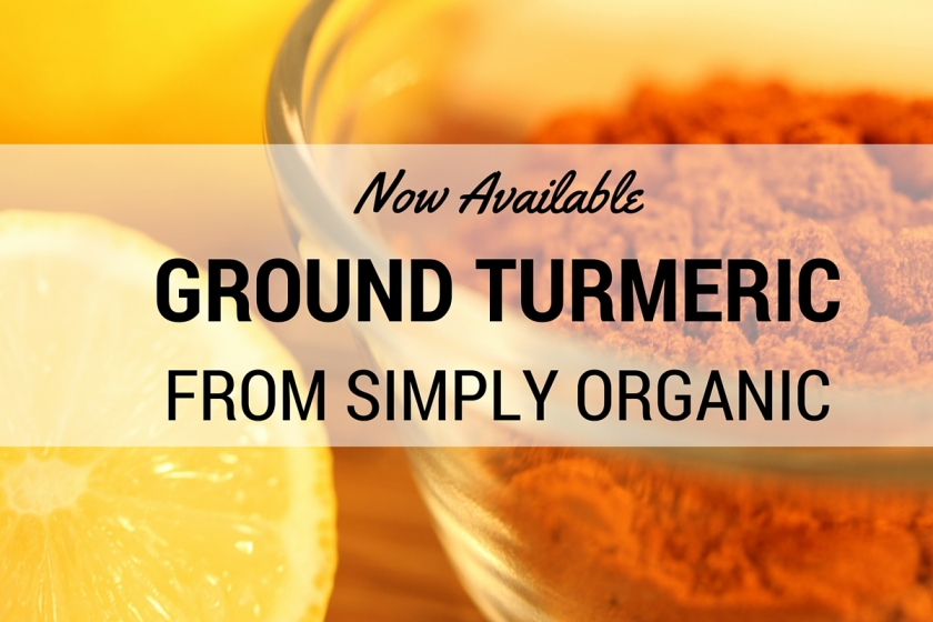Ground turmeric from simply organic
